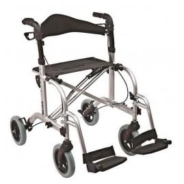 Chodzik aluminiowy, czterokołowy z funkcją wózka inwalidzkiego RL-A42018KD ANTAR