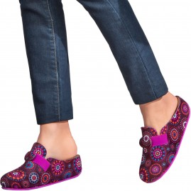 Kolorowe damskie pantofle Scholl Lareth