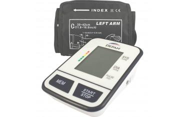 Ciśnieniomierz naramienny z funkcją wykrywania arytmii dużym mankietem i zasilaczem w zestawie marki Depan